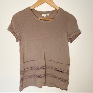 Wilfred Top With Cut Out Lace Detail